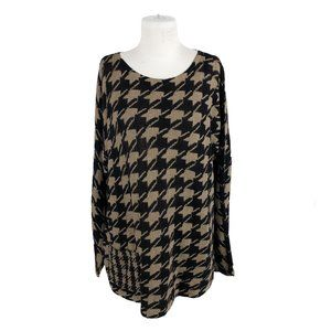 J. Jill XL Houndstooth Check Cotton Pullover Tunic
